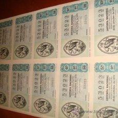 Lotería Nacional: LOTERIA NACIONAL BILLETE 10 DECIMOS. 26 DE OCTUBRE 1974, MARCA DEL IMPRESOR MONTESDOCA. Lote 29355850