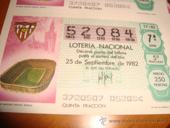 Lotería Nacional: LOTERIA NACIONAL BILLETE 10 DECIMOS, 25 SEPTIEMBRE 1982 - Foto 2 - 29355803