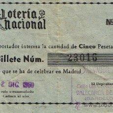 Lotería Nacional: PARTICIPACIÓN LOTERÍA NACIONAL - SORTEO NAVIDAD 1960 - Nº 23016 - SALVADOR ADELL - VALLCARCA SITGES. Lote 29850219