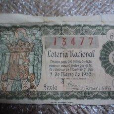 Lotería Nacional: LOTERIA NACIONAL. DECIMO. 5 DE MARZO DE 1955. . Lote 29857233