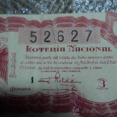 Lotería Nacional: LOTERIA NACIONAL. 25 DE OCTUBRE DE 1945.. Lote 29857242