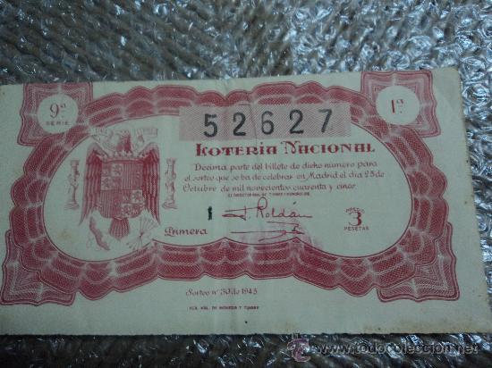 Lotería Nacional: LOTERIA NACIONAL. 25 DE OCTUBRE DE 1945. - Foto 2 - 29857242