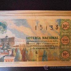 Lotería Nacional: LOTERIA NACIONAL AÑO 1962 COMPLETO. Lote 30390869