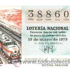 Lotería Nacional: LOTNAC79-19. LOTERIA NACIONAL, SORTEO Nº 19 DE 1979. LOCOMOTORA DIESEL. Lote 30529355