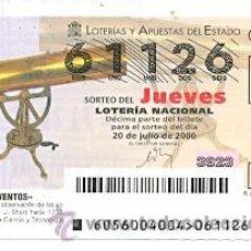 Lotería Nacional: 10-0056. LOTERIA DEL JUEVES, SORTEO Nº 56 DEL AÑO 2000. INVENTOS. TELESCOPIO. Lote 93749724