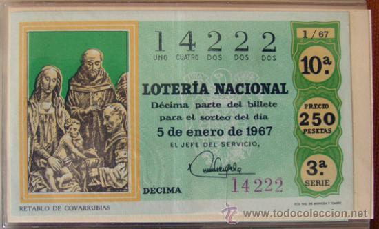 LOTERIA NACIONAL . AÑO 1967 . 30 DÉCIMOS . NUEVOS (Coleccionismo - Lotería Nacional)