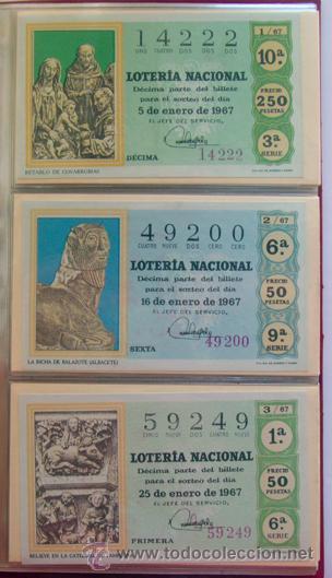 Lotería Nacional: LOTERIA NACIONAL . AÑO 1967 . 30 DÉCIMOS . NUEVOS - Foto 2 - 30589519