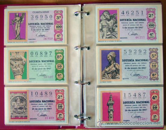 Lotería Nacional: LOTERIA NACIONAL . AÑO 1967 . 30 DÉCIMOS . NUEVOS - Foto 4 - 30589519