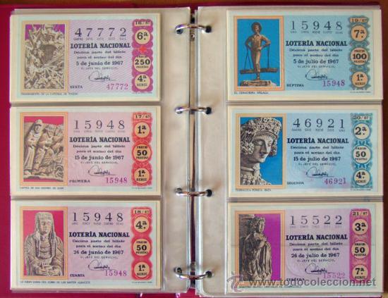 Lotería Nacional: LOTERIA NACIONAL . AÑO 1967 . 30 DÉCIMOS . NUEVOS - Foto 5 - 30589519