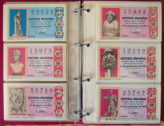 Lotería Nacional: LOTERIA NACIONAL . AÑO 1967 . 30 DÉCIMOS . NUEVOS - Foto 6 - 30589519