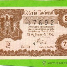 Lotería Nacional - LOTERIA NACIONAL SORTEO 9 de 1956 - 30955817
