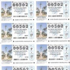 Lotaria Nacional: 1 BILLETE LOTERIA DEL SABADO -- 27 ENERO 2001 - 8/01 - PALOS DE LA FRONTERA - MONUMENTO A PLUS ULTRA. Lote 30976859