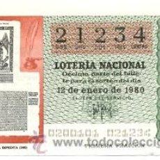 Lotería Nacional: LOTNAC2-80. LOTERIA NACIONAL, SORTEO Nº 2 DE 1980. Lote 31041898