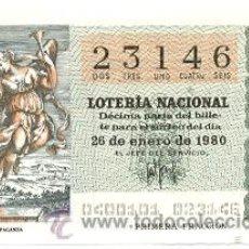 Lotería Nacional: LOTNAC4-80. LOTERÍA NACIONAL, SORTEO Nº 4 DE 1980. Lote 31041921