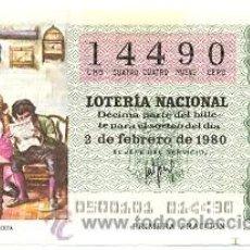 Lotería Nacional: LOTNAC5-80. LOTERÍA NACIONAL, SORTEO Nº 5 DE 1980. Lote 31041929