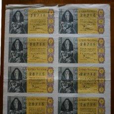 Lotería Nacional: LOTERIA NACIONAL, SERIE 5 DEL Nº 28716, SORTEO 15 DE DICIEMBRE DE 1960.. Lote 31086549