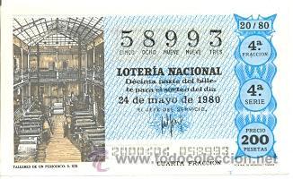LOTNAC20-80. LOTERIA NACIONAL SORTEO Nº 20 DE 1980. TALLERES DE UN PERIÓDICO (Coleccionismo - Lotería Nacional)