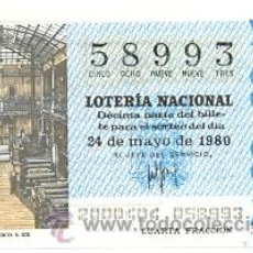 Lotería Nacional: LOTNAC20-80. LOTERIA NACIONAL SORTEO Nº 20 DE 1980. TALLERES DE UN PERIÓDICO. Lote 31161320