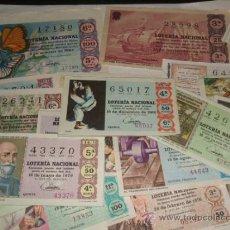 Lotería Nacional: LOTE 23 DECIMOS DE LOTERIA AÑOS 60 Y 70. Lote 31269494