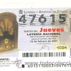 Lotería Nacional: 10-01-13. LOTERÍA NACIONAL DEL JUEVES, INVENTOS. APARATO RECEPTOR DE RADIO. Lote 31413461