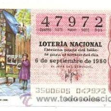 Lotería Nacional: LOTNAC35-80. LOTERÍA NACIONAL SORTEO 35/80. KIOSKO DE PERIÓDICOS. Lote 31895771