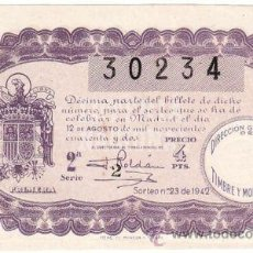 Lotería Nacional: 1942. LOTERIA NACIONAL. SORTEO 23. . Lote 32223989