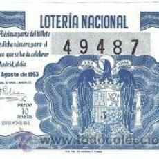 Lotería Nacional: LOTERIA NACIONAL. 1953. DÉCIMO SORTEO Nº 24 EXCELENTE ESTADO DE CONSERVACIÓN. Lote 32249947