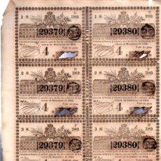 Lotería Nacional: 8 DÉCIMOS DE LOTERÍA NACIONAL, CUBA, 1844. Lote 32251440