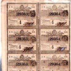 Lotería Nacional: 8 DÉCIMOS DE LOTERÍA NACIONAL, CUBA, 1844. Lote 32251450