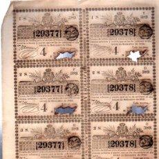 Lotería Nacional: 8 DÉCIMOS DE LOTERÍA NACIONAL, CUBA, 1844. Lote 32251527