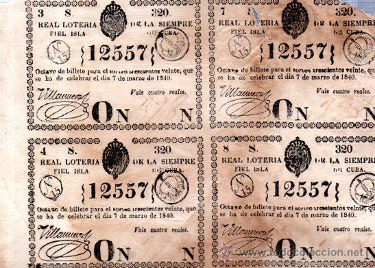 LOTERIA NACIONAL DE 1840, CUBA (Coleccionismo - Lotería Nacional)