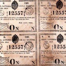 Lotería Nacional: LOTERIA NACIONAL DE 1840, CUBA. Lote 32252100