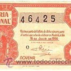 Lotería Nacional: LOTERIA NACIONAL. 1956. DÉCIMO SORTEO Nº 20 EXCELENTE ESTADO DE CONSERVACIÓN. Lote 32262311