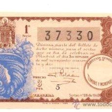 Lotería Nacional: LOTERIA NACIONAL 1942. DECIMO DEL SORTEO Nº 28. DE CONSERVACIÓN CON MÁRGENES.. Lote 32594601