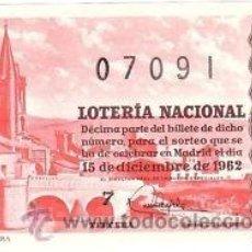 Lotería Nacional: LOTERIA NACIONAL 1962 DÉCIMO SORTEO Nº 35. . Lote 32699307