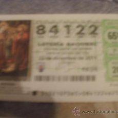 Lotería Nacional: DECIMO LOTERIA NAVIDAD 2011 NUMERO 84122. Lote 76718886