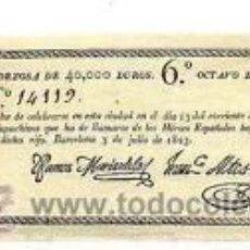 Lotería Nacional: 1822.BARCELONA.