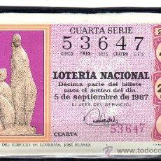Lotería Nacional: DECIMO DE LOTERIA SORTEO 25 DE 1967, VER FOTO. Lote 33326542