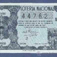 Lotería Nacional: DECIMO LOTERIA NACIONAL AÑO 1949 SORTEO N. 12. Lote 33232012