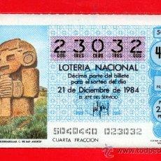 Lotería Nacional: UN DECIMO DE LOTERIA NACIONAL CAPICUA. Lote 33604048