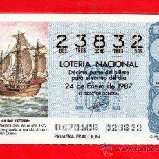 Lotería Nacional: UN DECIMO DE LOTERIA NACIONAL CAPICUA. Lote 33604075