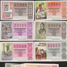 Lotería Nacional: LOTERÍA NACIONAL. AÑO 1980 COMPLETO. 50 DÉCIMOS.. Lote 33949970