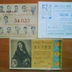 Lotería Nacional: BOLETO LOTERÍA 1960 + 3 PARTICPACIONES. Lote 34187146