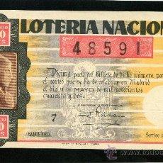 Lotería Nacional: LOTERIA NACIONAL, AÑO 1942 SORTEO 14 ( D-0042 ). Lote 34430868