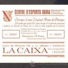 Lotería Nacional: PARTICIPACION DE LOTERIA DEL CENTRE D' ESPORTS SURIA 1979. Lote 34433423
