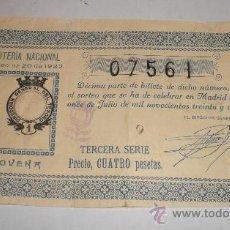 Lotería Nacional: LOTERIA NACIONAL, SORTEO Nº 20 DE 1932. Lote 34468906