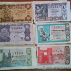 Lotería Nacional: 29 DECIMOS LOTERÍA NACIONAL 1954/1955/1957/1959/1960/1961/1962 - 1963. Lote 34973926