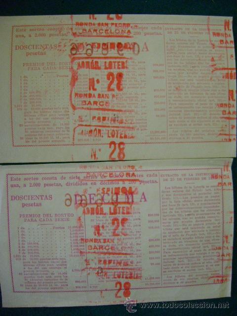 Lotería Nacional: 2 décimos lotería nacional sorteo 36 (22 diciembre 1954) - Foto 2 - 34992010