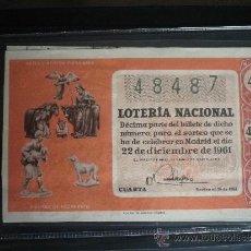 Lotería Nacional: LOTERIA 1961 SORTEO 36 DICIEMBRE. Lote 35043718