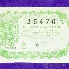 Lotería Nacional: LOTERIA NACIONAL SORTEO 30 DE 1946. Lote 35462958